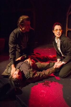 Arthur and Van Helsing Over Quincey's dead Body